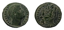 Ancient Coins - Constantine I, 307-337 AD. AE Follis. Constantinople mint.