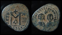 Ancient Coins - Interregnum, Revolt of the Heraclii. 610 AD. AE 32 mm, follis  Alexandria mint. Ex-Rare!