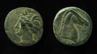 Zeugitana, Carthage. Circa 264-241 BC. AE 20 mm. Nice coin!
