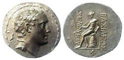 Ancient Coins - Seleukid Kingdom. Seleukos IV. Philopator, 187 - 175 BC. AR Tetradeachm. Ake mint.