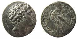 Ancient Coins - Seleukid Kingdom. Alexander I Balas, 150-145 BC. AR Tetradrachm. Sidon mint.