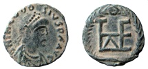Ancient Coins - Theodosius II, 408-450 AD. AE 11 mm. Constantinople mint.