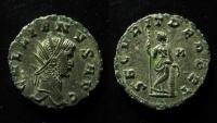 Ancient Coins - Gallienus, Silvered antoninianus, Rome mint, 20mm, Rare!