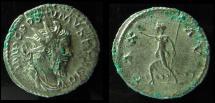 POSTUMUS, 260-269 AD. ANTONINIANUS. PAX. BOLD DETAILS