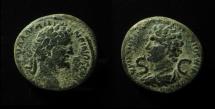 Ancient Coins - SYRIA, Seleucis and Pieria. Antioch. Antoninus Pius, with Marcus Aurelius as Caesar. Æ 24mm, Extremely Rare Dynastic Issue!