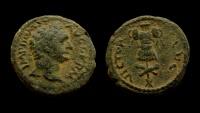 Judaea Capta, Domitian, 81-96 A.D. AE 19 mm.  Excellent example!