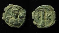 Ancient Coins - Constantine IV. 668-685 AD. AE Decanummium, Constantinople.