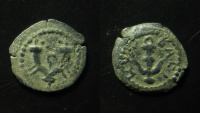 Ancient Coins - Judaea, Herod I (The Great) AE Prutah. ca 40 BC - 4 AD. Beautiful example.