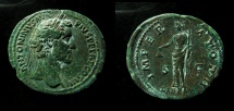 Ancient Coins - Antoninus Pius. AD 138-161. Æ As (30mm, 13.20 g). Rome mint. Struck AD 143-144, About EF