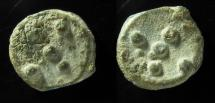 Judaea, Alexander Jannaeus, 103-76 BC, Lead Prutah, Struck on Both Sides! Second known!