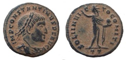 Ancient Coins - Constantine I, the Great, 307-337 AD. AE 19 mm. Ticinum mint.