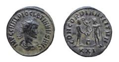 Ancient Coins - Diocletian, 284-305 AD. AE Antoninianus. Cyzicus mint. 21 mm.