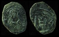 Ancient Coins - Arab-Byzantine, Early Caliphate, 636-660 AD, Bust Type, Imitating Constans II Follis, Unpublished!