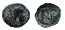 Zeno, 476-491 AD. AE 10 mm, Thessalonica mint.