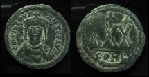 Ancient Coins - Tiberius II Constantine. 578-582. Æ Three-Quarter Follis – 30 Nummi (31mm). Constantinople mint, RARE!