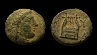 Kyrenaica. Kyrene. temp. Magas. As king of Kyrene. AE 16 mm.