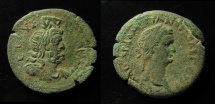 Ancient Coins - Egypt, Alexandria. Domitian AE 24 mm. Diobol.