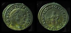 Ancient Coins - Constantius I, AE Large Follis, Aquileia, 301 AD.  VF