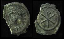 Ancient Coins - Tiberius II Constantine. 578-582. Silver Siliqua. Constantinople mint.(1.5g) Ex-Rare!!!!!