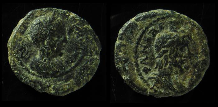 Ancient Coins - JUDAEA, Neapolis. Elagabalus 218-222 AD. AE. Serapis