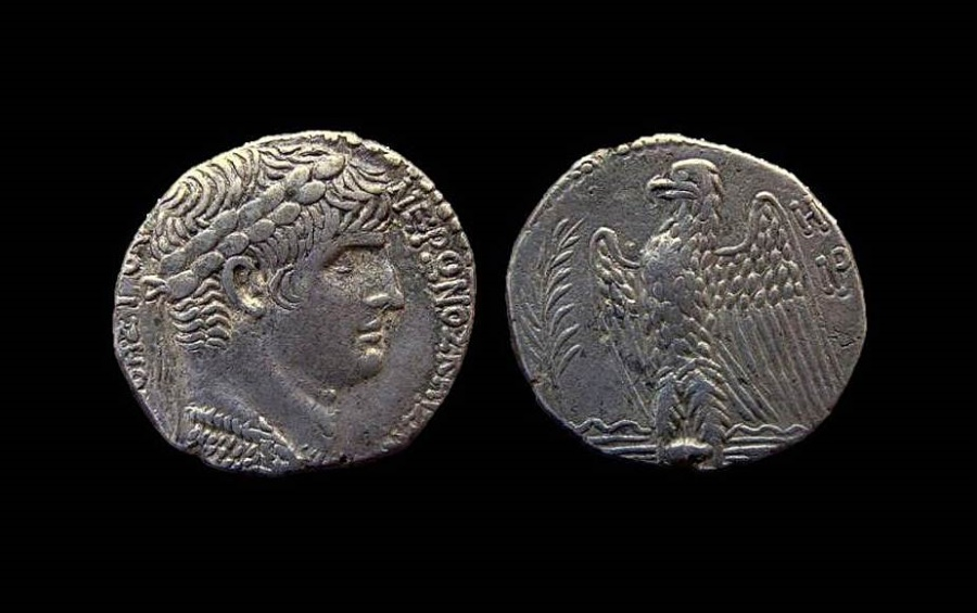 Ancient Coins - Syria, Seleucis and Pieria. Antioch. Nero, 54-68 AD. AR Tetradrachm.