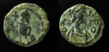 Leo I, AE4, 11mm, Constantinople, 457-474 AD. Full legend!