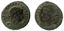 Ancient Coins - Constantine I, 306-337 AD. Brokage follis.