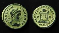 Ancient Coins - Constantine I AE 20 mm, Follis. 323-324 AD. London. RARE