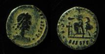 World Coins - VANDALS IMITATION of A ROMAN COIN of THEODOSIUS - constantinopolis seated type