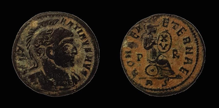 Ancient Coins - Constantine AE 19 mm, follis. 318-319 AD.