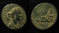 Ancient Coins - Mysia, Attaea. Sabina AE 25 mm. Superb coin & Ex-Rare!