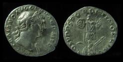 Ancient Coins - TRAJAN, 98-117 AD. SILVER DENARIUS. TROPHY