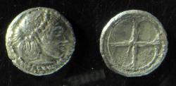 Ancient Coins - Sicily, Syracuse, c. 475-470 BC. Silver Litra (0.6g).