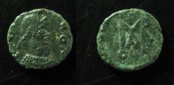 Ancient Coins - Basiliscus & Marcus AE 9mm. Cyzicus mint. SUPERB & RRRR!!!!