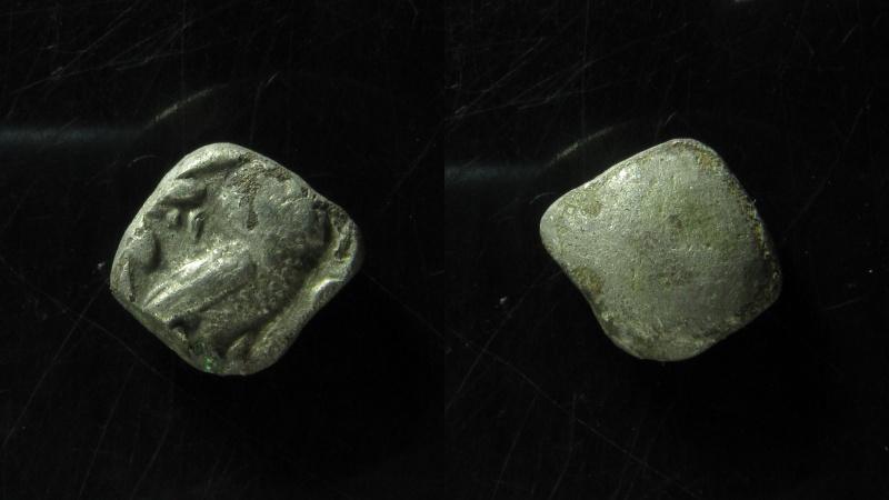 Ancient Coins - EDOM (IDUMAEA). 4th century BC. Silver Quarter Shekel – Drachm  (13mm, 3.3 g), Ex-Rare!