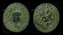 Ancient Coins - COMMAGENE, Samosata. Philip II, 244 - 249 AD Tyche and River-God. AE34mm, Medallion!!!