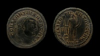 Ancient Coins - Constantius I. As Caesar, 293-305 AD. AE Follis. Carthage mint.