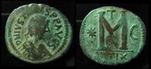 Ancient Coins - JUSTIN I, 518 - 527 ad. AE Follis, Antioch Mint. 18.1g, 35mm. Rare