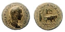 Ancient Coins - Arabia. Bostra. Severus Alexander, 222-235 AD. AE 30 mm. Medalion size. Rare.
