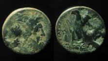 Ancient Coins - Ptolemaic Kingdom. Ptolemy II Philadelphos AE 27 mm. Unusual grid die.
