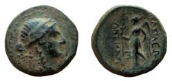 Ancient Coins - Seleukid Kingdom. Antiochos III, 222-187 BC. AE 20 mm. Uncertain mint in southern Coele-Syria.