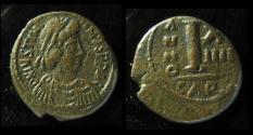 Ancient Coins - Justinian I, AE Decanummium, Carthage mint, Rare & Bold!!!