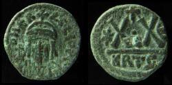Ancient Coins - Heraclius. 610-641. AE half follis Carthage mint. VF+