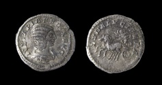 Ancient Coins - Julia Domna. Augusta, AD 193-217. AR Denarius (18mm, 2.9 g). Rome mint. Struck under Caracalla