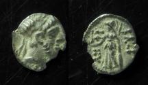 Ancient Coins - Samaria, Antiochus IX, before c. 108 BC, Silver Hemiobol, 0.3 g, Unpublished in Hendin, Ex-Rare!