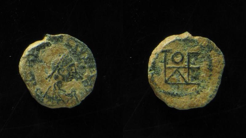 Ancient Coins - Theodosius II, AE4. 408-450 AD. desert patina