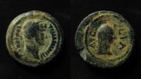 Ancient Coins - EGYPT, Alexandria. Arsinoite Nome. Hadrian. Year 11 (126/127 AD). AE 19 mm Obol. EX-RARE