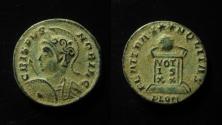 Ancient Coins - Crispus (317-326 AD). AE3 (18 mm), Londinium (London), 321 AD. RARE+SUPERB!!!
