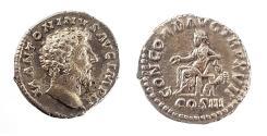 Ancient Coins - Marcus Aurelius (161-180). Silver Denarius. Rome. (3.4 g, 18 mm)