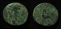 Ancient Coins - Claudius I AE 23mm of an uncertain Caesarea in Cilica or Syria. Year 5 = 45 AD.